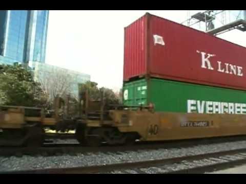Union Pacific container / intermodal freight train at Dallas Union Station
