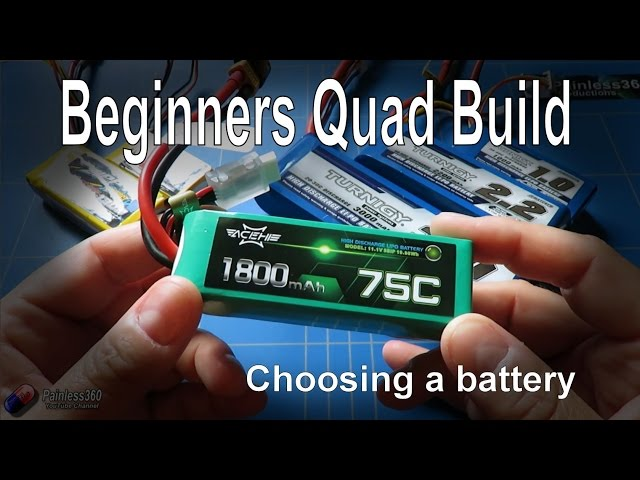 Quadcopter Building for Beginners: How to choose a LIPO Battery
