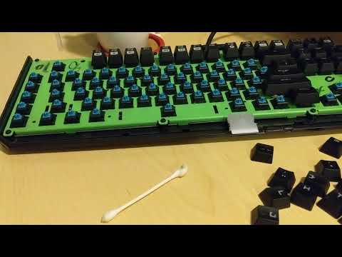 Cleaning up my Mechanical Keyboard due to sticky keys.