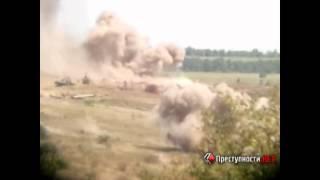 Видео ПН: Обстрел позиций украинских военных на границе Украины и России