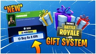 *NEW* HOW TO USE THE FORTNITE GIFTING SYSTEM - HOW TO GIFT SKINS IN FORTNITE BATTLE ROYALE