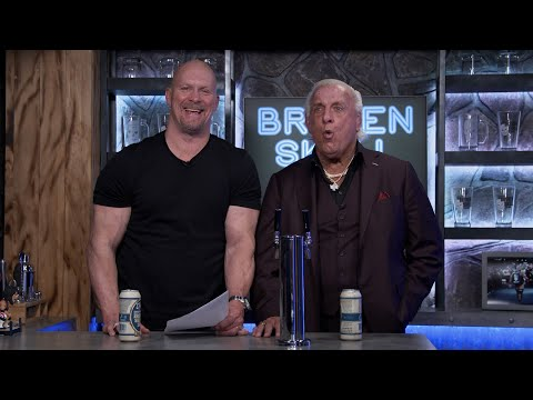 """""""Stone Cold"""" plays word association with Ric Flair at the Broken Skull Bar"""