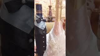 Жених и невеста на бутылки. Ручная работа.