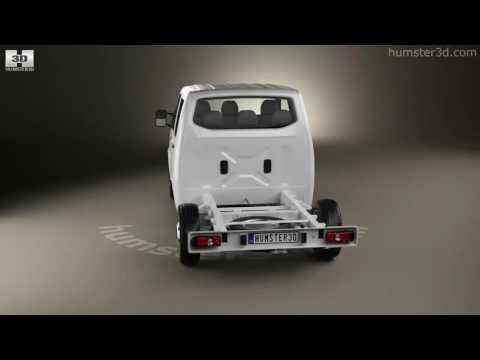 Volkswagen Transporter (T6) Double Cab Chassis 2016 3D model by Hum3D.com