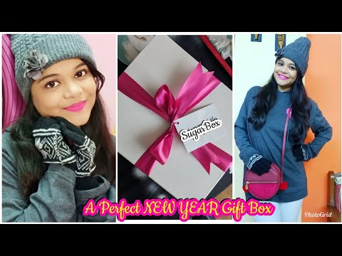 What I Got in My NEW YEAR GIFT BOX ? | SUGARBOX WINTER EDITION | SuperBeautyDezires