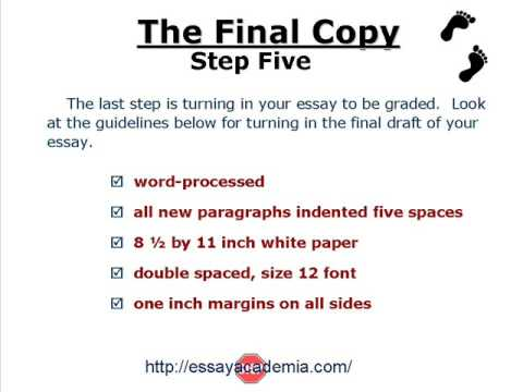 steps to write an essay