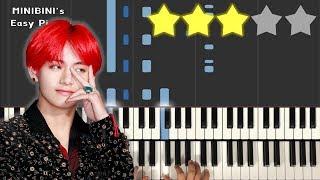 BTS V - Scenery (풍경) 《MINIBINI EASY PIANO ♪》 ★★★☆☆ [Sheet]