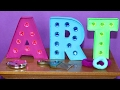 DIY American Girl Doll Marquee Letters