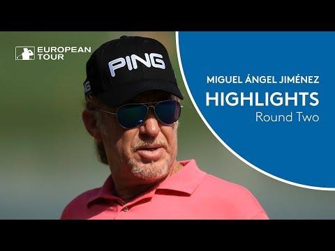 Miguel Ángel Jiménez Highlights | Round 2 | 2018 Omega Dubai Desert Classic