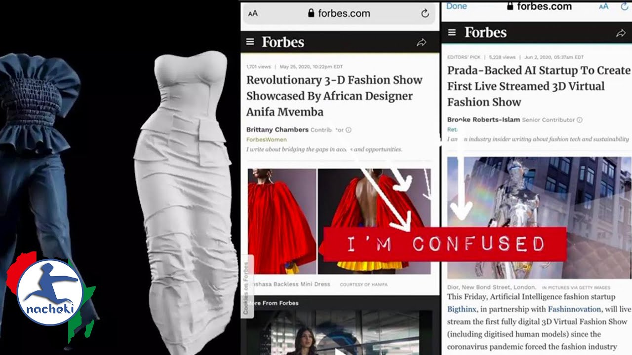 Forbes Shamelessly Tries to Steal Title for Worlds First 3D Fashion Show from African Designer