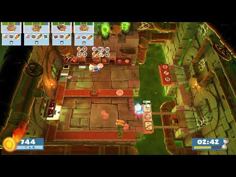 (2players) Overcooked2 Night of the Hangry Horde 1-3 [score: 2376] |