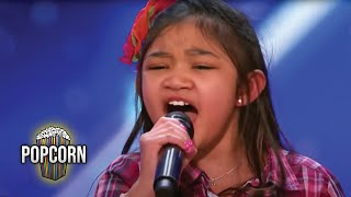 americas got talent 2017 angelica hale 9 year old stuns simon the crowd full audition s12e02