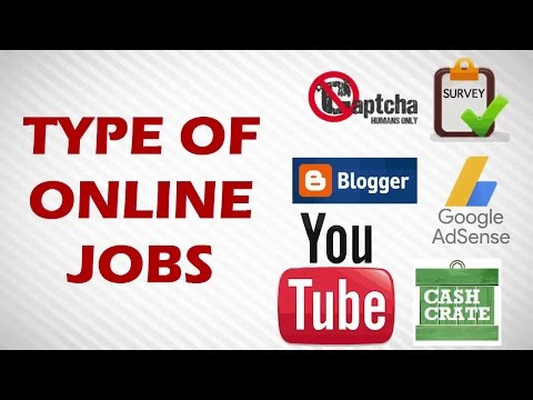 Types of online job - make money online in tamil