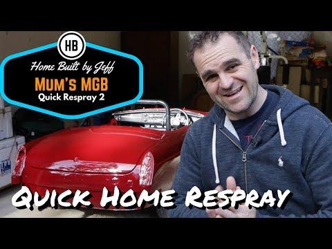 Quick home repaint - Mum's MG Quick Respray 2