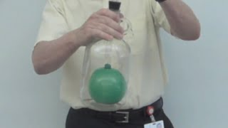 balloon in a bottle -air pressure // Homemade Science with Bruce Yeany