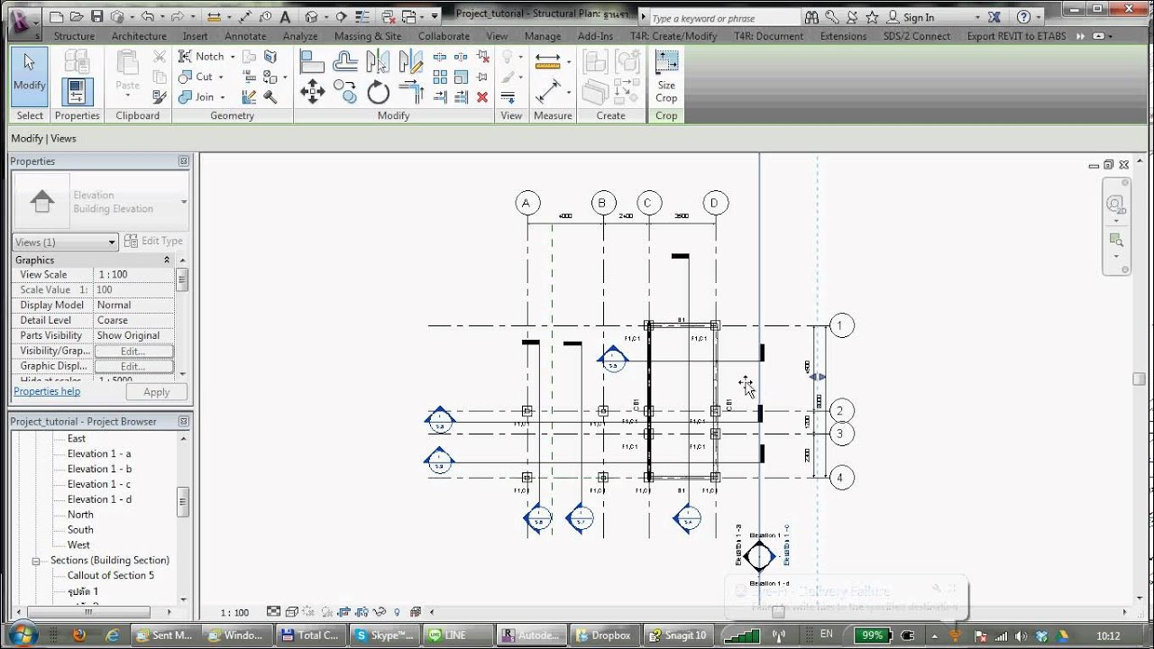 Revit Building Elevation : Revit tutorial how to make building elevation views and