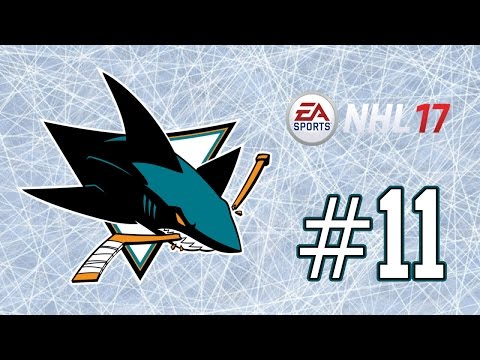 NHL 17 ~ San Jose Sharks GM Mode Commentary ~ #11 (Tough 2nd Round Matchup)