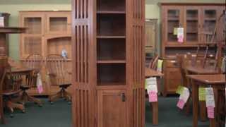 Barn Furniture - Amish Corner Bookcases