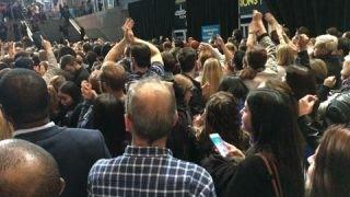 Clinton HQ rejoices as Hillary wins New York