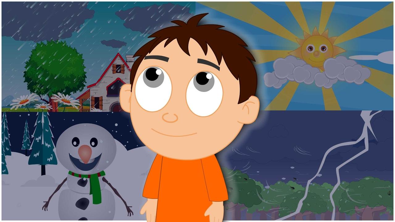 Animasi Keadaan Cuaca Video Pendidikan Anak Hujan Salju