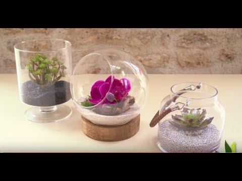 cr ez votre terrarium artificiel en 1 minute jardinerie truffaut tv youtube. Black Bedroom Furniture Sets. Home Design Ideas