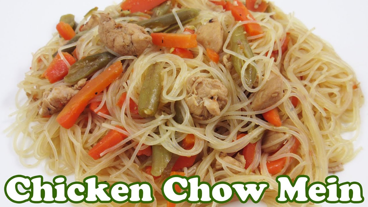 Chicken chow mein recipe asian chinese food recipes filipino chicken chow mein recipe asian chinese food recipes filipino pancit noodle rice noodles jazevox youtube forumfinder Images