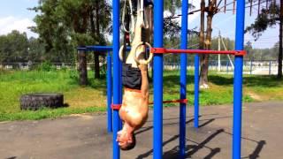 Комплекс упражнений на гимнастических кольцах - тренировка на площадке