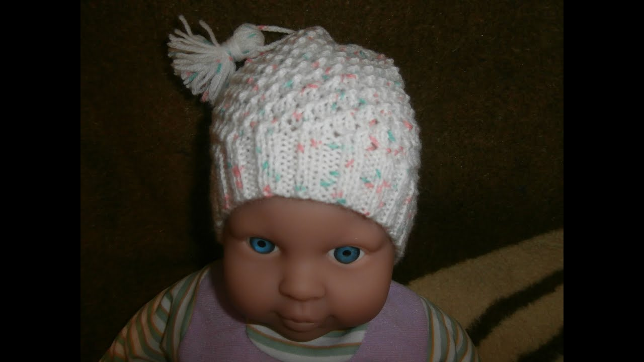 d9653e25777 Bien connu DIY . tuto tricot facile bonnet bébé layette - YouTube CF16