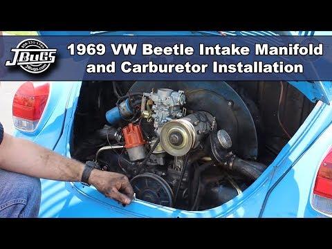 JBugs - 1969 VW Beetle - Intake Manifold & Carburetor Installation