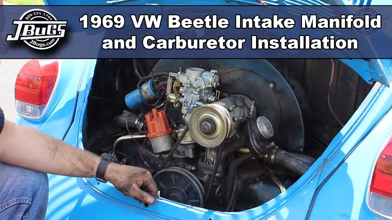 Jbugs 1969 Vw Beetle Intake Manifold Carburetor Installation Bug Fuse Box