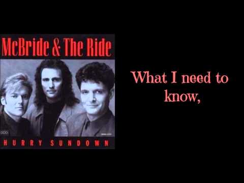 McBride & The Ride - Can I Count On You Lyrics