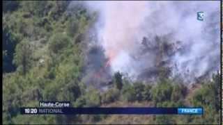 Incendie en Haute-Corse (village de Vignale)