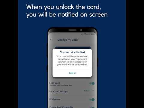 Royal Bank mobile app  - lock/unlock your credit card