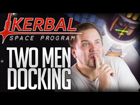 Kerbal Space Program - TWO MEN DOCKING (Multiplayer Mod)