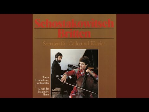 Sonata for Cello and Piano in C Major, Op. 65: III. Elegia. Lento