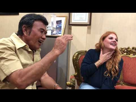 King of Dangdut Rhoma Irama teaching DIA singer Marina