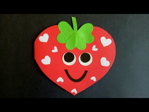 Strawberry Cardproject Idea For Kidshow To Make Birthday Card