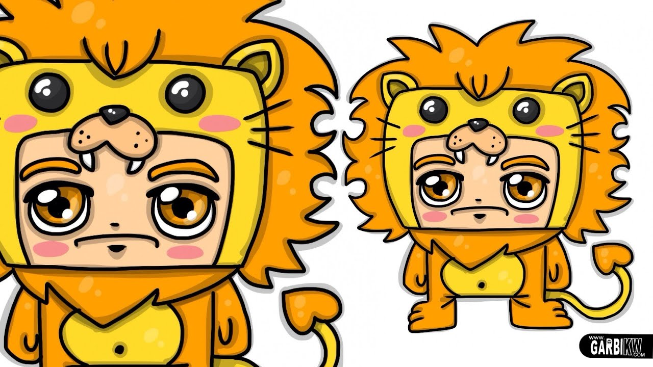 Uncategorized Cute Lion Drawing how to draw a lion boy chibi and kawaii by garbi kw cute easy drawings youtube