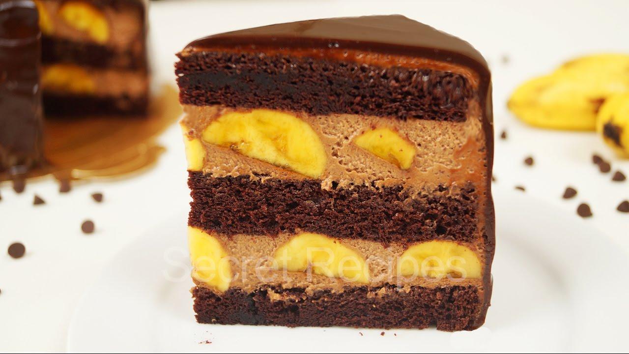 Рецепты пошагово тортов шоколадно-банановый