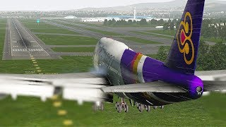 Pilots Try Everything To Save Boeing 747 Landing In Stormy Weather | X-Plane 11