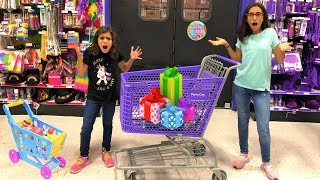 Kids Pretend play Shopping for Birthday Surprise Toys!! fun video