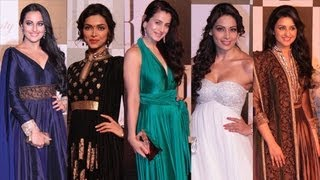 Bollywood Divas At Amitabh Bachchan's 70th Birthday Bash !