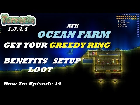Terraria 1.3.4.4 HOW TO | Build an AFK Ocean Farm | Expert | Greedy Ring + More | Episode 14