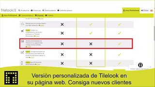 Versión personalizada de Tilelook en su página web, consiga nuevos clientes