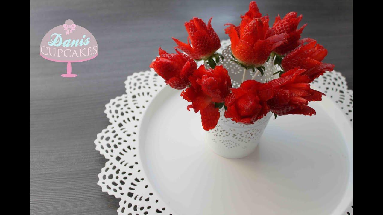 strawberry roses erdbeer pops erdbeeren danis cupcakes. Black Bedroom Furniture Sets. Home Design Ideas
