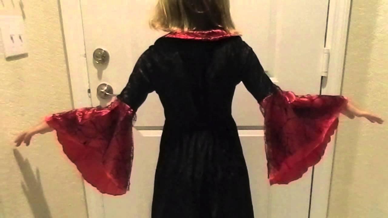 V&ire Girl Dress Up Costume Divine V&ress Halloween & Vampire Girl Dress Up Costume Divine Vampress Halloween - YouTube
