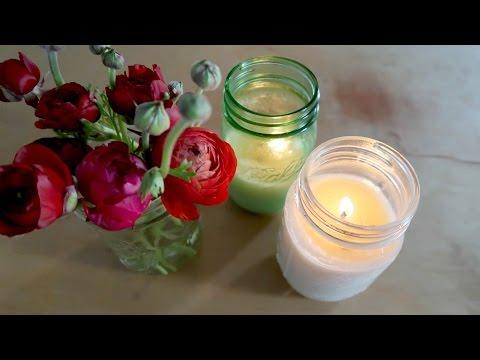 DIY ALL NATURAL & NON TOXIC CANDLES