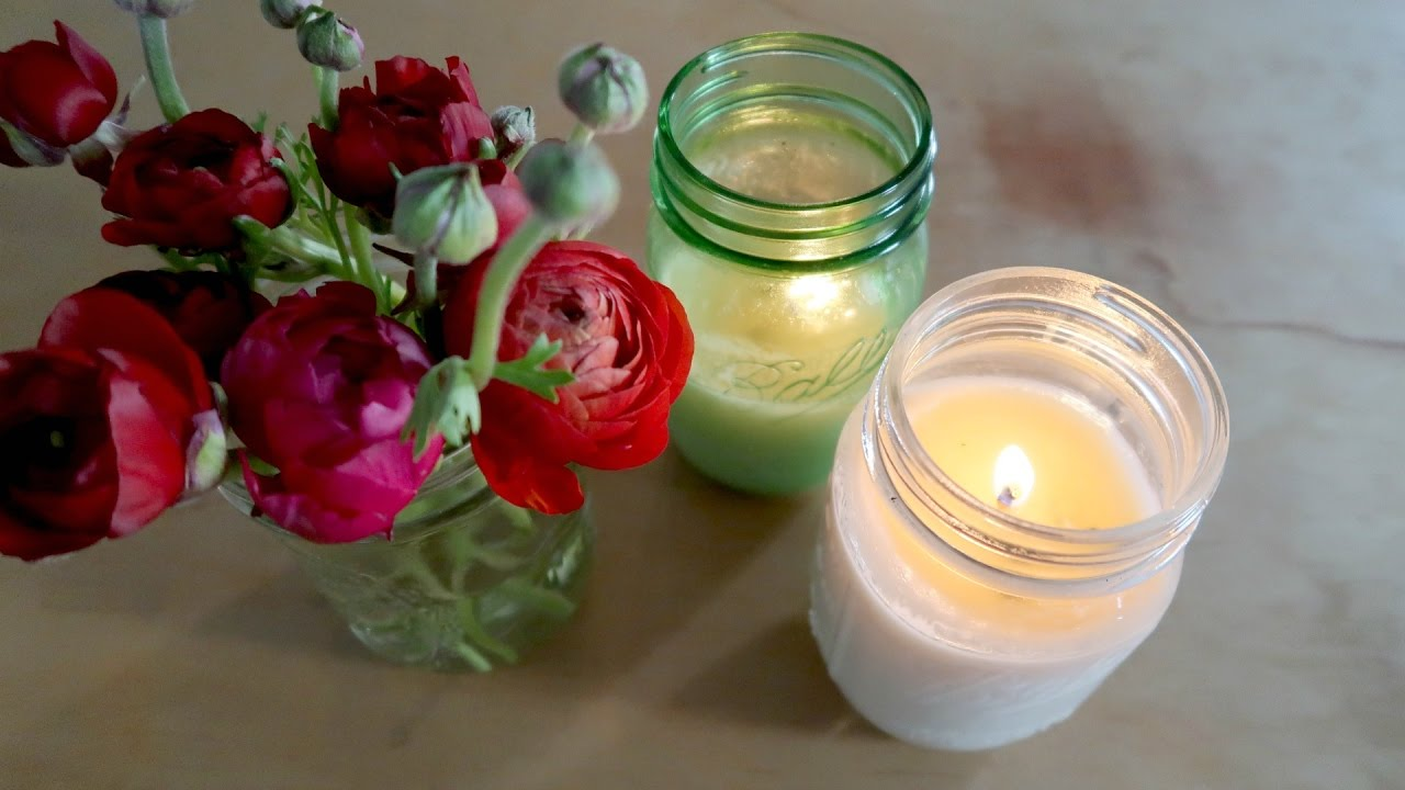 DIY ALL NATURAL & NON TOXIC CANDLES