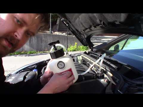 Peugeot 407 brake bleed with Motive Power Bleeder