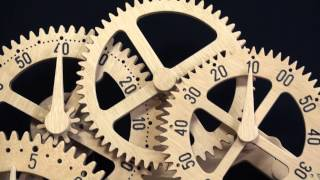 Wooden Gear Clock Genesis Design By Clayton Boyer
